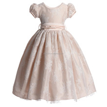 Newest Floral Girl Princess Dresses With Puff Sleeve Ankle-Length Baby Girls Prom Dress Fancy Kids Clothing CMGD90326-15