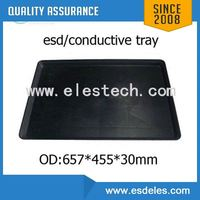 320*235*43mm antistatic corrugated box conductive tray