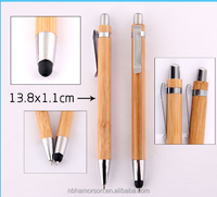 Eco-friendly stylus ballpoint pen made of bamboo metal clip/ECo pen/touch bamboo pen