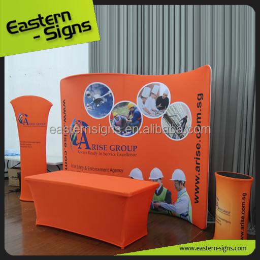 Easily Install Promotional Outdoor Aluminium Exhibition Booth Pvc Panel