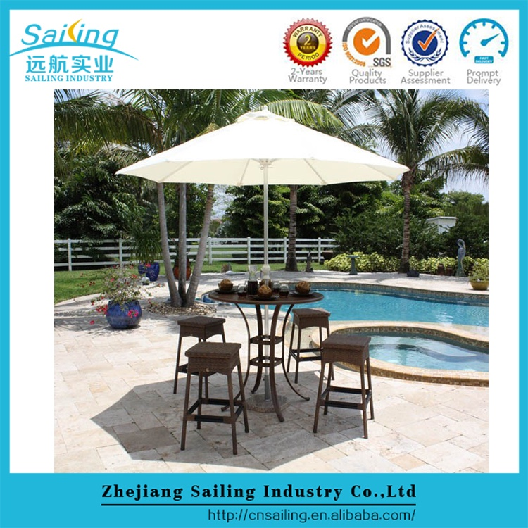 Popular Rattan Table With Glass Top And Rattan 4 Chairs Dining Set Furniture
