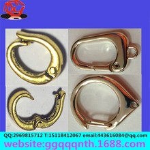 18K gold 925 stering silver metal copper jewelry Connect Slingshot spring Lobster clasp
