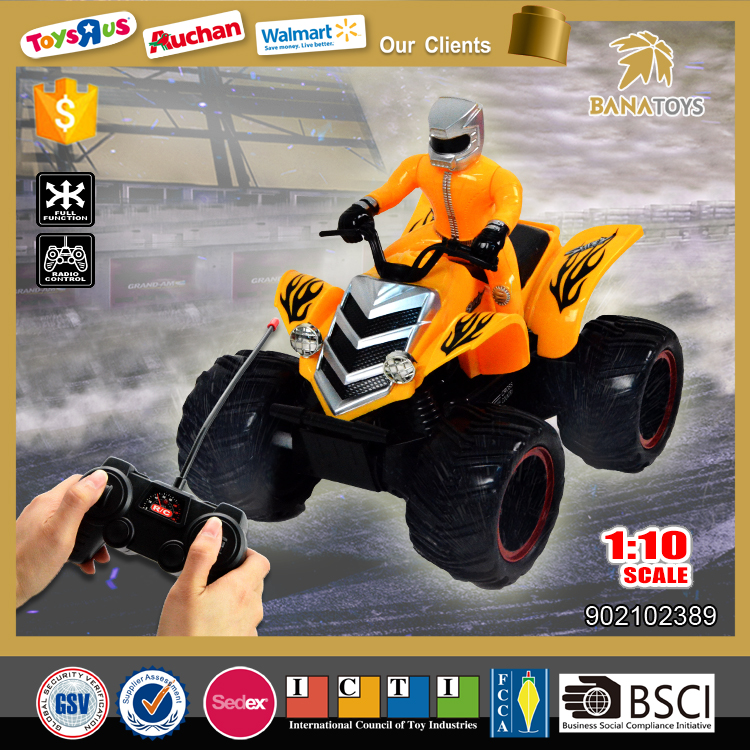 Free Shipping 2016 new rc motorcycle toy 1:10 4 wheel motorcycle for kids