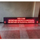 p10 single color led board display running message