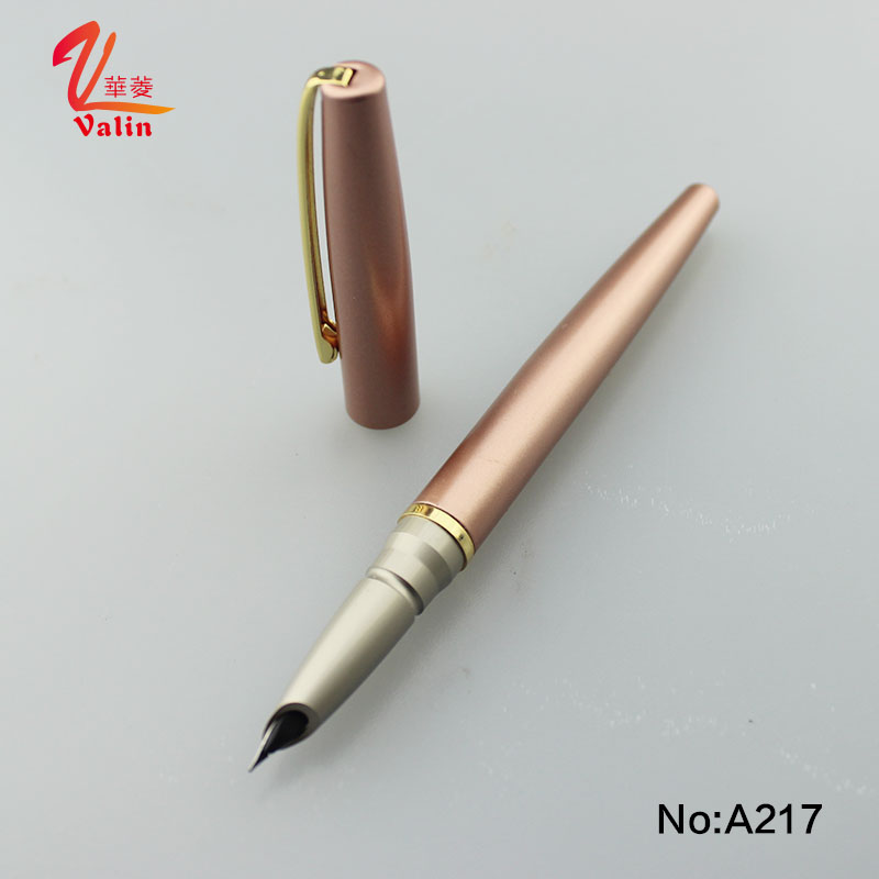 Luxury rose gold metal hero fountain pen nibs