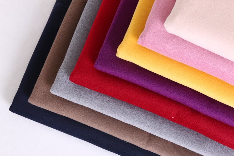 8 Colors Solid Dyed Pure Wool Woolen Fabric For Winter Garment Coat