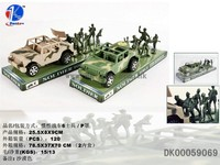 High Quality Plastic Soldier Toy With Friction Car, Toy Soldier