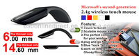 2014 top 10 2.4g super slim novelty wireless mouse
