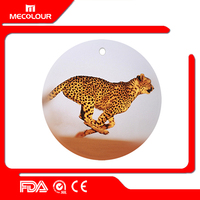 Mecolour 4inch Printable Sublimation Ceramic Ornament for Christmas decoration
