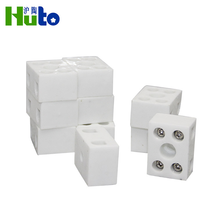 White Or Off-White Low Voltage Insulated Terminal Block With Cover