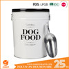 LARGE DOG FOOD CONTAINER with Scoop FOR PET Feeder Metal Tightly lid Storage Bin