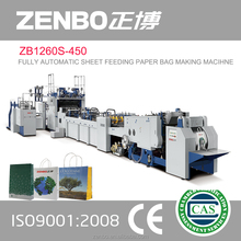 shoe clothes bag paper pattern cutter ZB1260S-450 fully automatic sheet feeding paper bag making machine