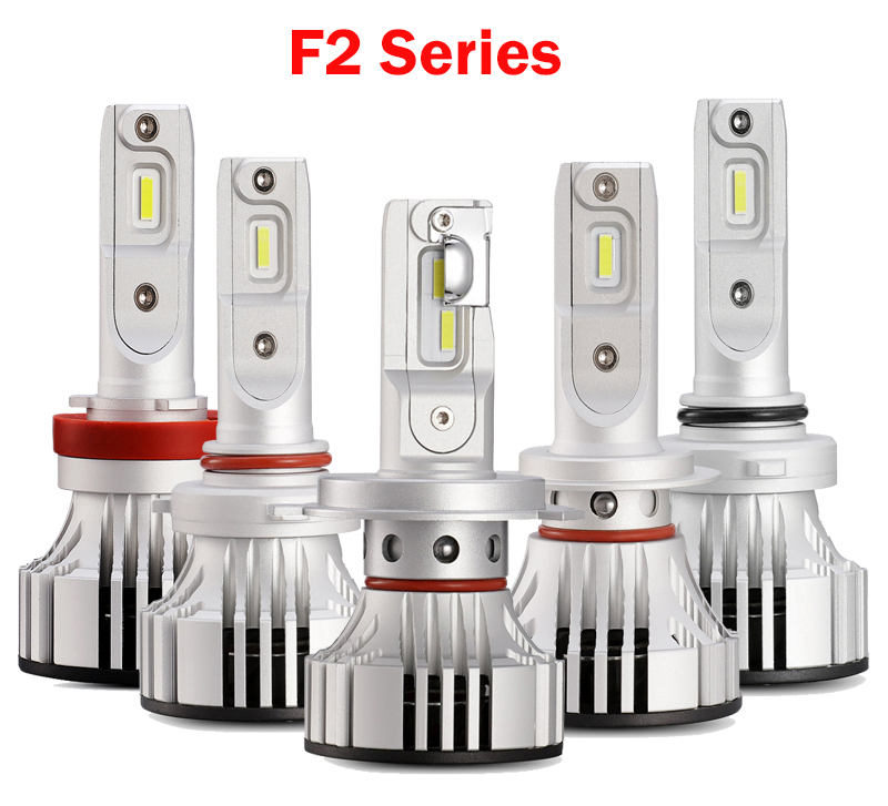 Hot sale led headlight bulb F2 6000LM wholesale auto lighting system H4 H7 H11 LED light bulbs