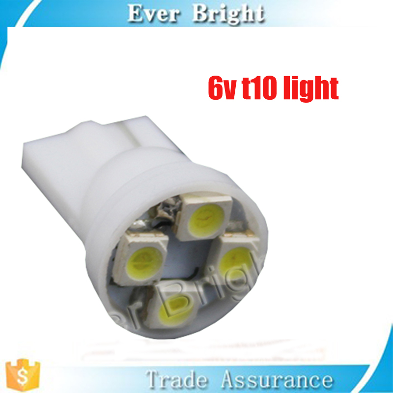 China factory promotion price led motorcycle 6v light t10 1210 4smd 6v