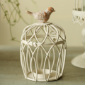Vintage decor chic bird cage metal candle holder