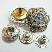 rhinestone snap button/press button for cloth/fabric covered buttons