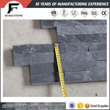Black nature slate wall flat culture stone