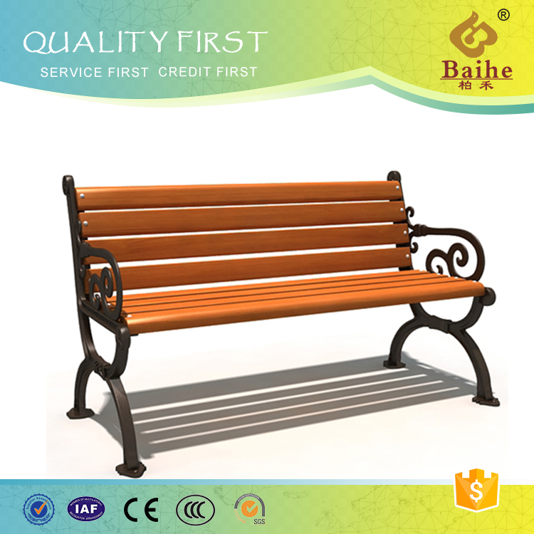 Environmental friendly shape customed park bench