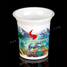 Custom printed disposable plastic yogurt cups
