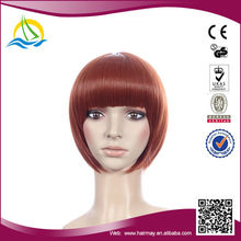 Wholesale price High Temperature Fiber orange korean wig