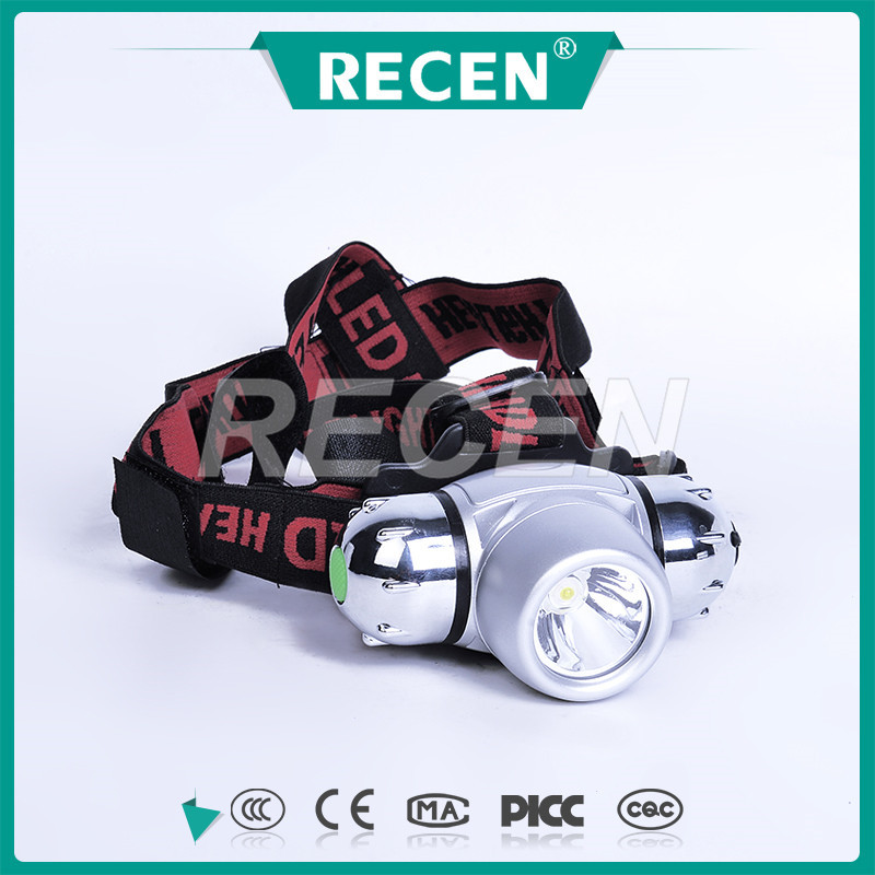 3 years warranty 3 watt IP57 explosion proof Rechargeable micro battery powered led headlight for helmet