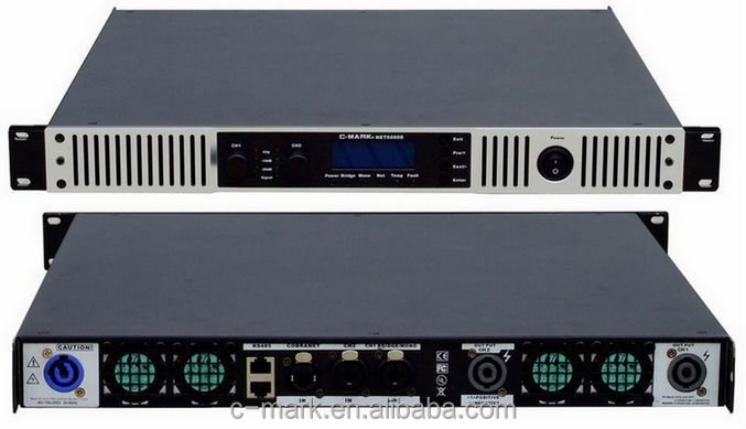 6000W/4OHM Bridge professional audio Digital Amplifier with dsp processing function and network available