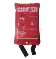 Fire Blanket 1m*1m hotel shop fire rescue firefighting equipments fire extinguisher