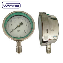 bottom connection SS liquid glycerine or silicone filled pressure gauge