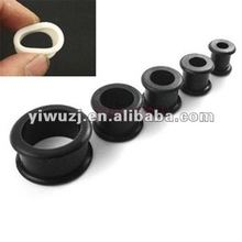 china fashion black silicone ear plug body jewelry