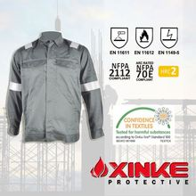 NFPA F1506 Red reflective anti-fire safety fire protection jackets for arc flash suit
