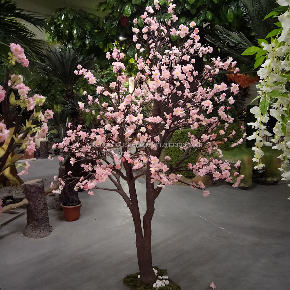 artificial flowers silk cherry blossom tree for wedding decoration