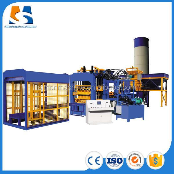 QT4-15 Yes Automatic and Concrete Brick Raw Material block making machine