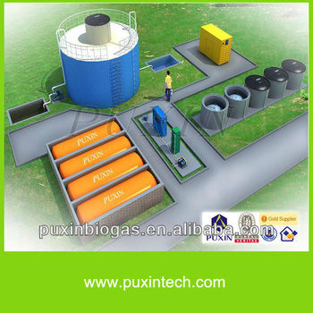 PUXIN high quality food waste disposer biogas power plant