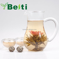 Different styles high quality blooming art tea made of green tea and dehydrated fresh flower