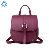 Wholesale Custom Genuine Leather Elegance Fashion Women Small Backpack