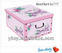 Aesthetic Foldable Paper Storage Box With Lid