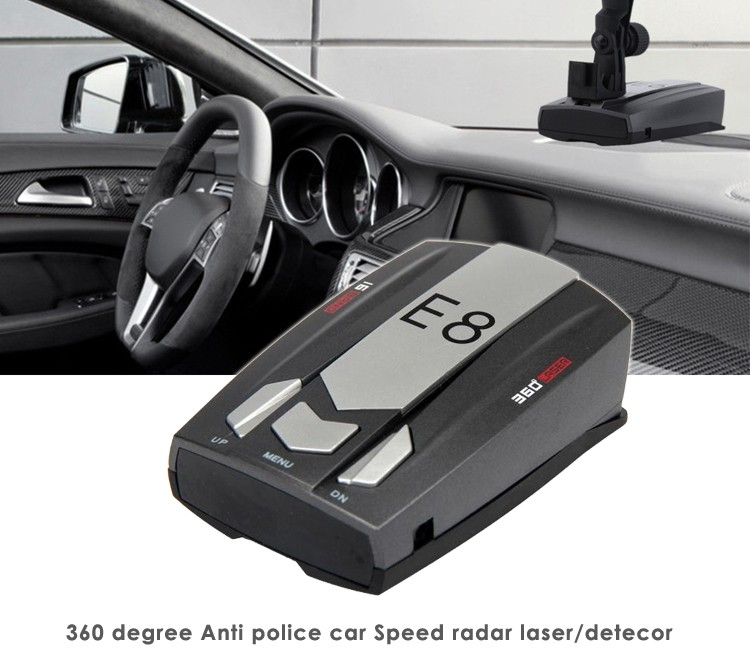 Car Speed Police Radar Detector E8 with Full Bands LED Display