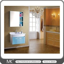 Bright color stainless steel bathroom vanity (MK-7034)
