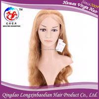 "20""New Arrival High Quality No Tangle No Shedding Unprocessed Beyonce Full Lace Wig Body Wave,Blonde Hair For White Women"