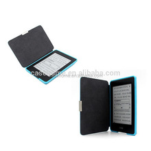 cross pattern leather case for kindle papeprwhite,for kindle paperwhite with function of sleep and wake up