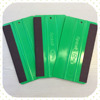 Taiwan Made High quality green plastic squeegee with black fabric wrap for window, cars