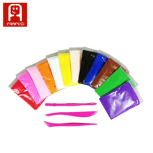 12Colors Promotional DIY Super Light Air Dry Clay, Non-Toxic Polymer Clay Modeling Clay