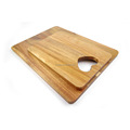 Solid acacia wood simple cutting board set with handle