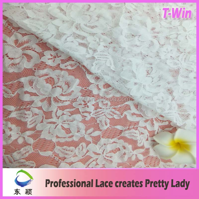 China textiles lace white lace tulle fabric for latest design