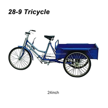 24 inch adult tricycle cargo bicycle non-electric three wheel bicycle bike