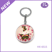 HX-6515 Pink dragonfly metal key finder alarm whistle