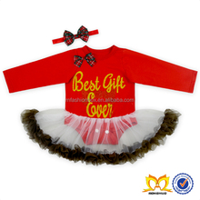 Baby Christmas Tutu Skirt Romper With Bow Toddlers Dressy Romper Baby Frock Designs Fancy
