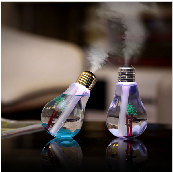 400ML Bulb USB Mini Humidification With The LED Light For Household Purify <strong>Air</strong>