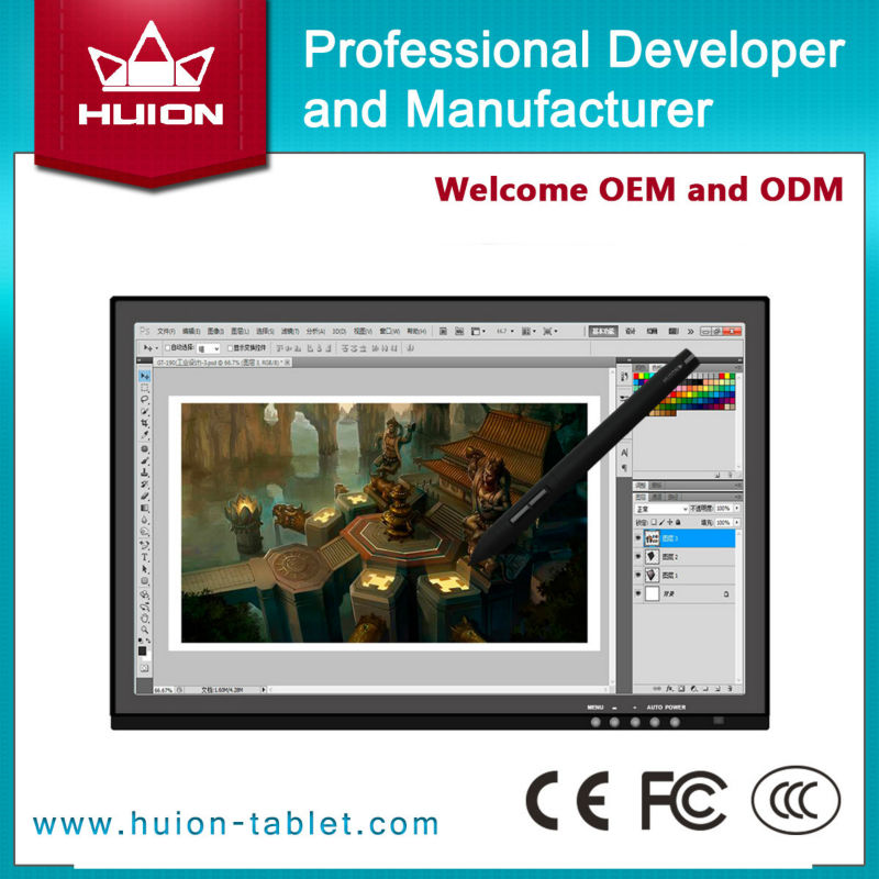 new products 2014 huion 19 digital drawing tablet/interactive white board GT-190