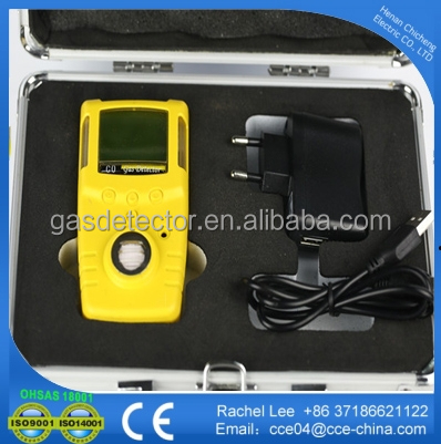 0-100ppm portable hydrogen sulfide chlorine gas leak detection/ detector/ analyzer with backup battery